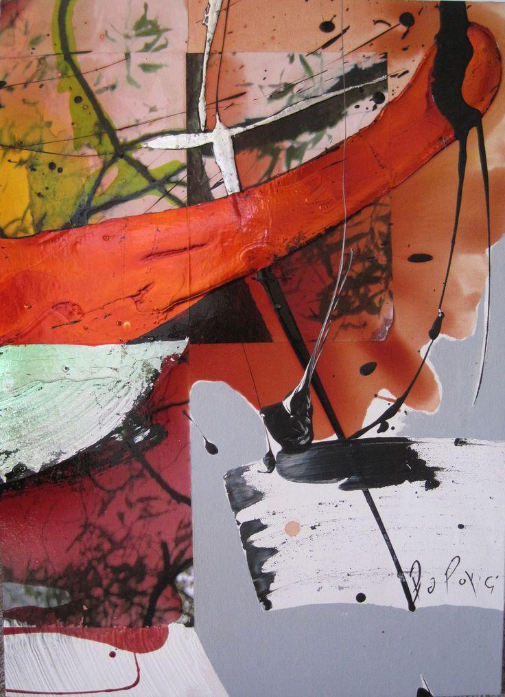 Cristina Popovici - Treescape 1 (2014) - mixed media on canvas