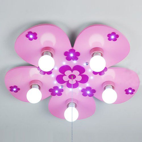 Cute Cartoon Pink Flowers Children S Room Ceiling Lamps Fashion Princess Room Ceiling Lights Girl S Bedroom Ceiling