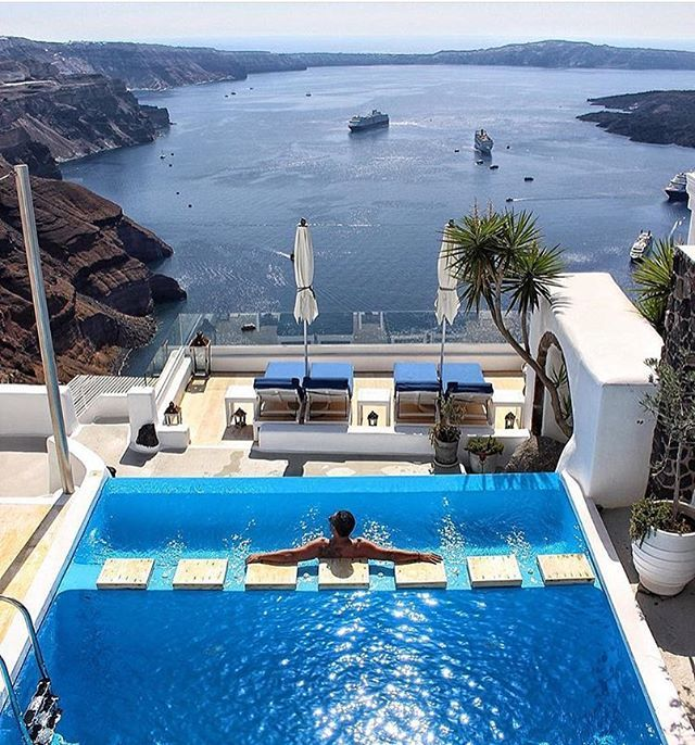 So romantic! @iconicsantorini @elite_locations ------------------- Location: @iconicsantorini Santorini, Greece photo credit: @kinsonsworld  ------------------- @Elite_locations