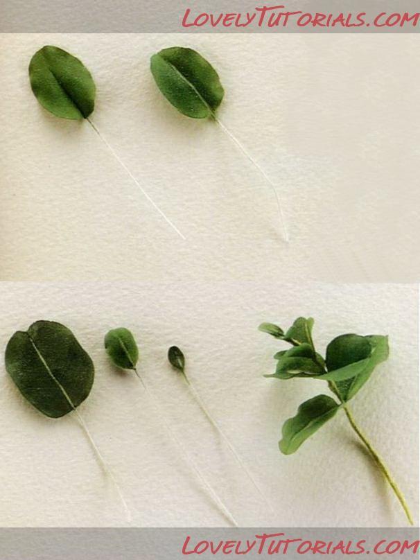 Eucalyptus leaves fondant tutorial