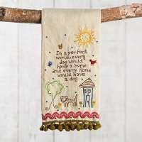 Linen Hand Towels: Dog Hand Towel from Natural Life | Natural Life