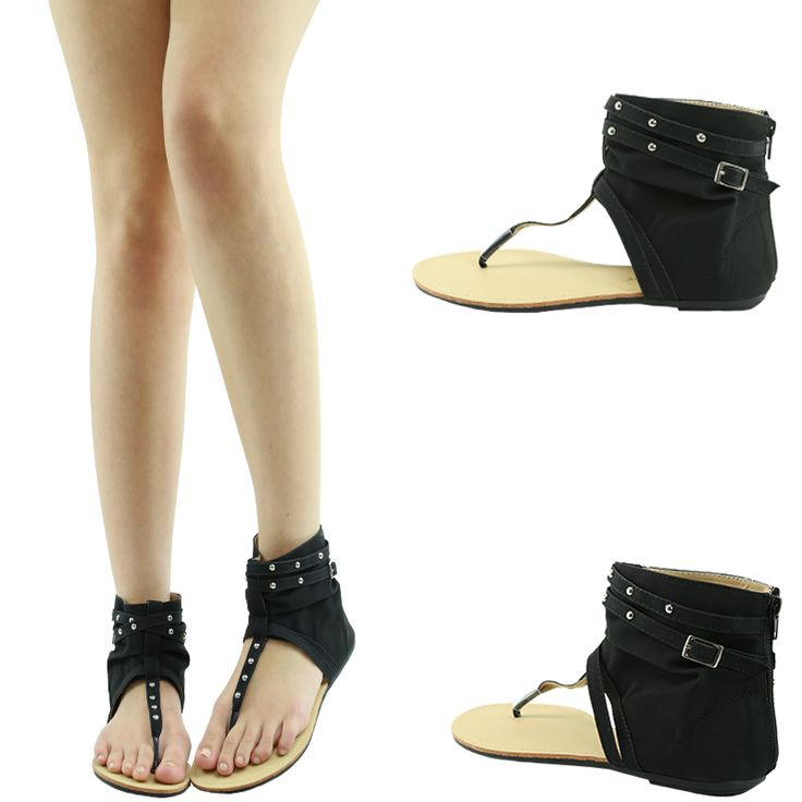 Details About Camel Mid Calf Knee High Strappy Studded