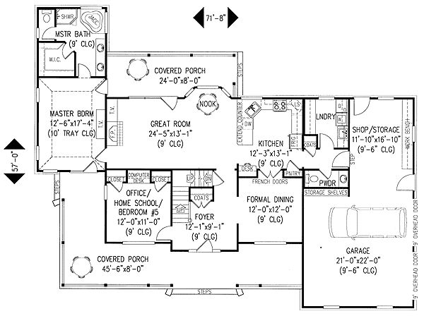 4 or 5 bedroom home plan for Five room house plan