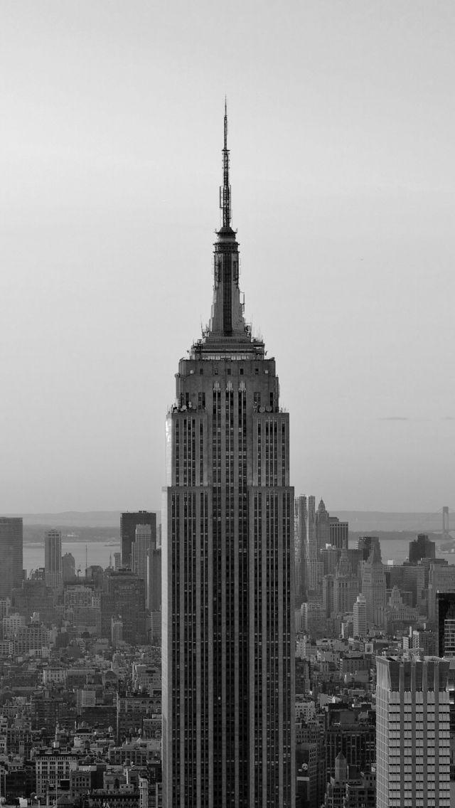 Download Free Hd Wallpaper From Above Link Grey Monochrome Skyline City Newyork New York Iphone Wallpaper New York Wallpaper City Wallpaper