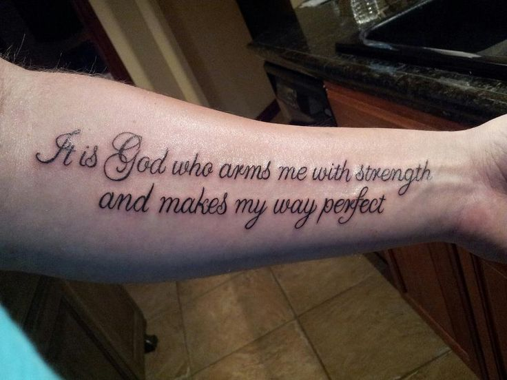 Psalm 27 tattoos for men lastly for now and my most for Tattoo quotes about god