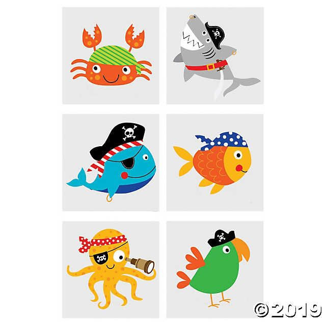 Pirate Animals Temporary Tattoos – talk like a pirate day