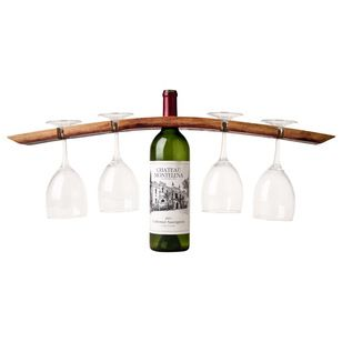 A wine caddy that is so portable!  Contemporary barware by Alpine Wine Design.