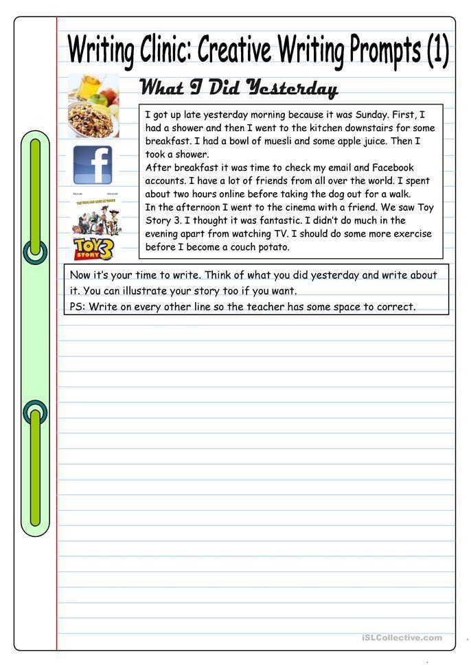 Schreibklinik: Kreative Schreibanweisungen (1) – Was ich gestern getan habe