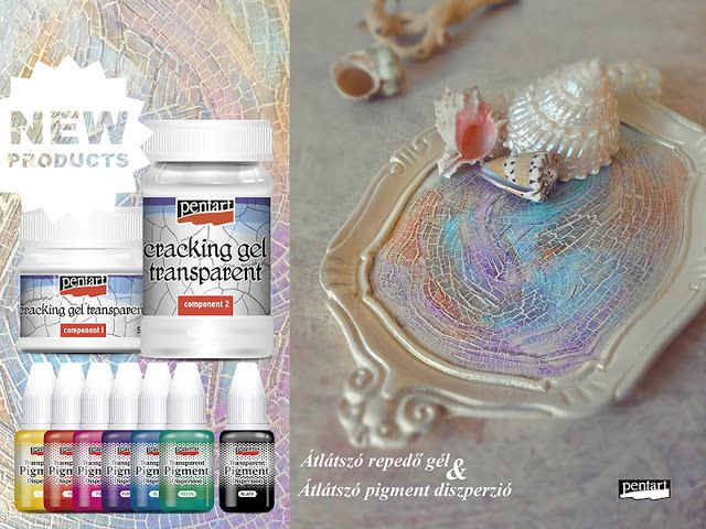 #diy #tray #cracking #pastel #acrylicpaint #pentart