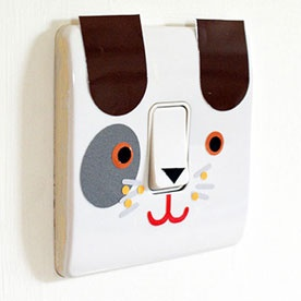 "Do you have a room just for ""Fido""? This light switch would be perfect!"