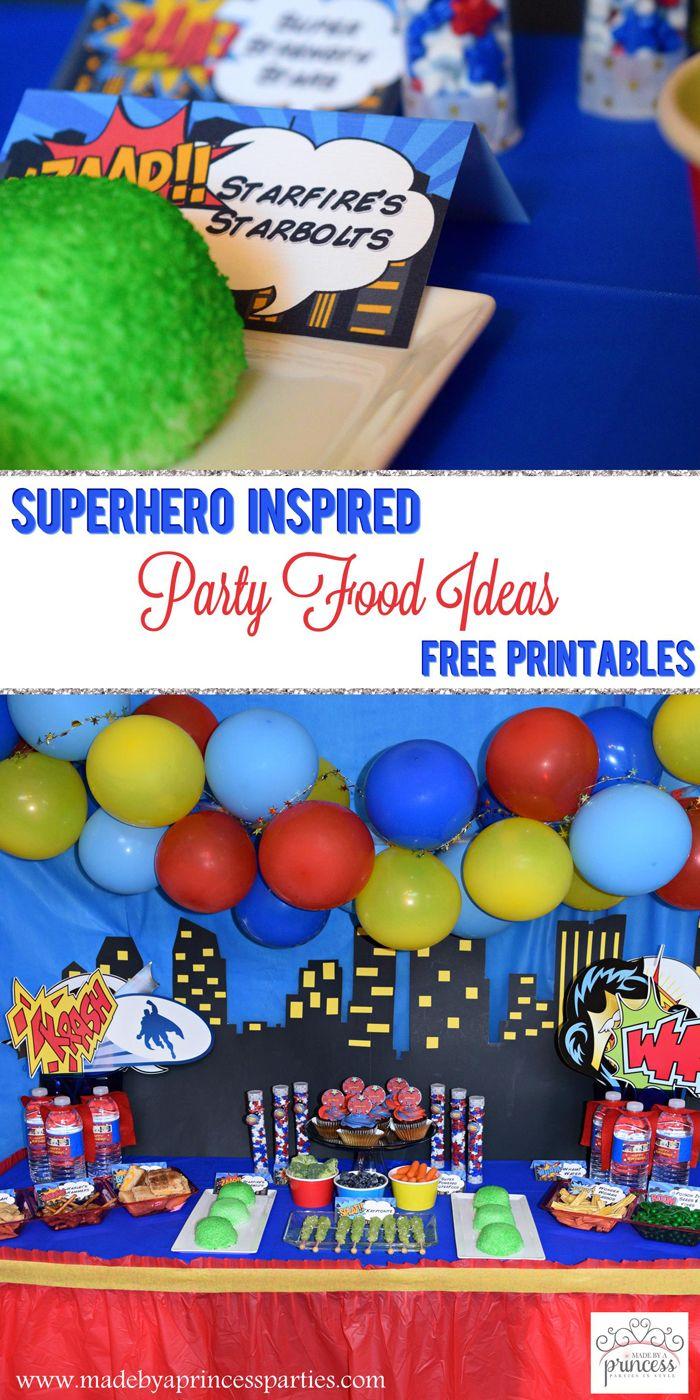 25+ best Superhero party food ideas on Pinterest | Super hero food ...