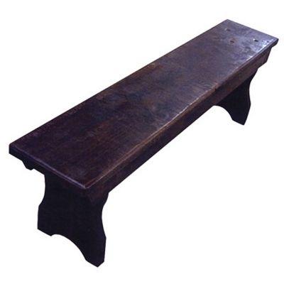 Rustic Flat Top Bench Amish Oak Cabin Furniture Made in ...