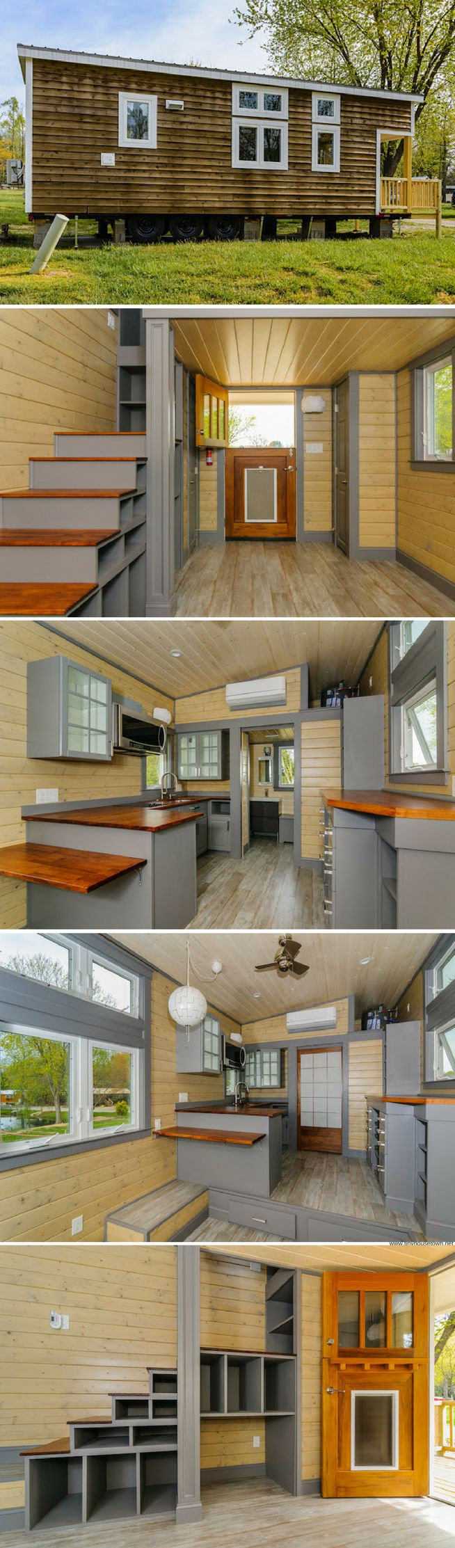 The Squibb: a 300 sq ft tiny house from Wishbone Tiny Homes