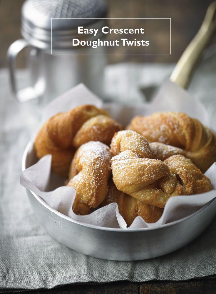 Easy crescent doughnut twists recipe dessert recipes