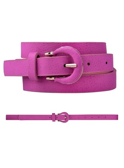 Basic suade jeans belt in candy pink, AU$14.99, from Ally, Australia.