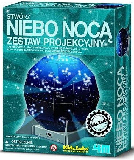 Nocne niebo - Wiedza i zabawa 13233, Zrób to sam | ZABAWKI \ Zabawki kreatywne, zrób to sam \ Wycinanie, sklejanie, składanie POKOIK \ Lampki, projektory NA PREZENT \ Prezent uniwersalny 4M | Hoplik.pl wyjątkowe zabawki