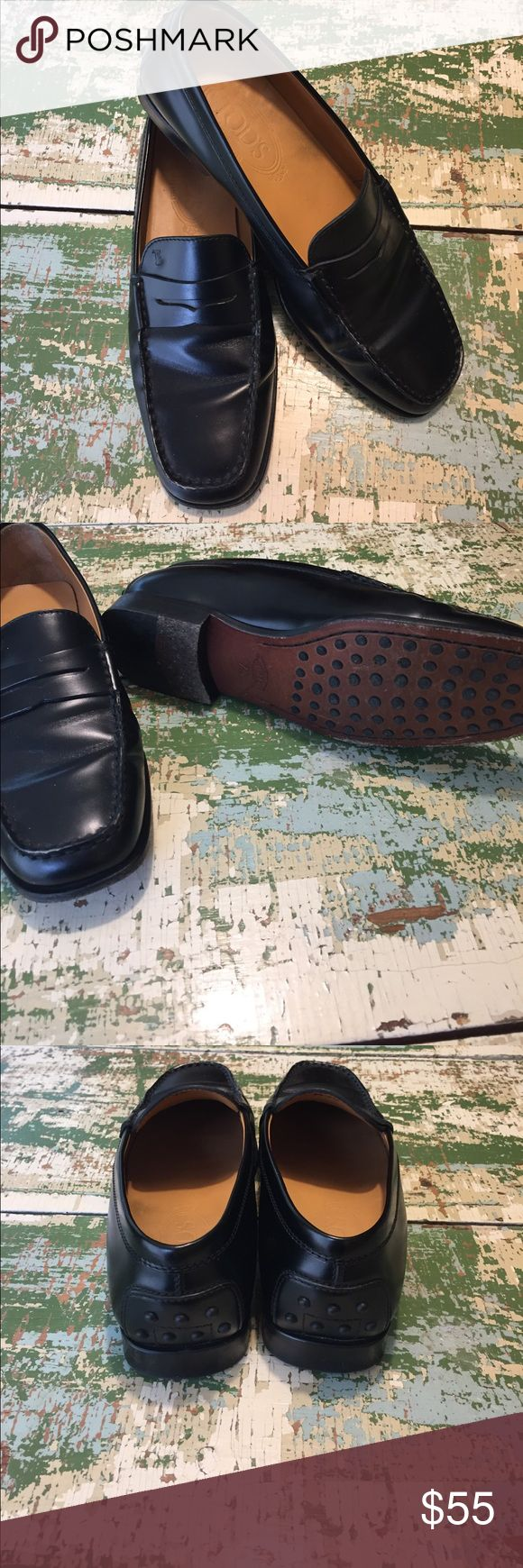 Black leather loafers Black leather loafers. Reposh-- did not work for me. Shoes Flats & Loafers