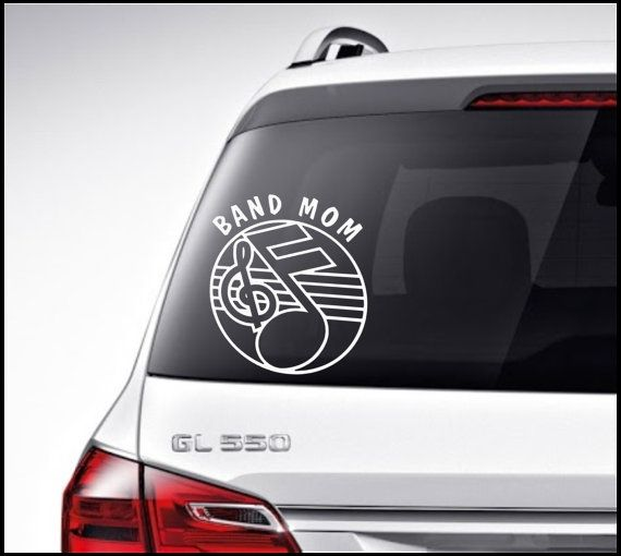 Soooooo getting this for my mom!!!!!  Marching Band Car Decal Vinyl Lettering by VinylDecorBoutique, $4.50
