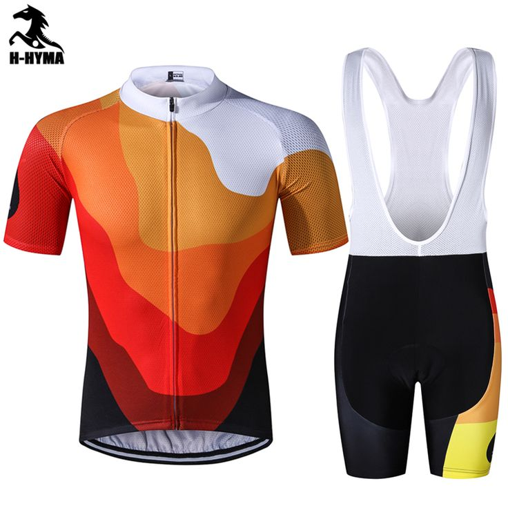 H-HYMA Men's short sleeve cycling jersey Roupa Ciclismo/Breathable Bicycle Cycling Clothing/Quick-Dry Racing Bike Sports Wear