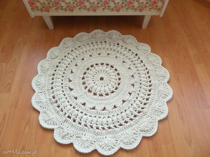 Dywan wykonany ręcznie szydełku dywany wools dywanik chodnik
