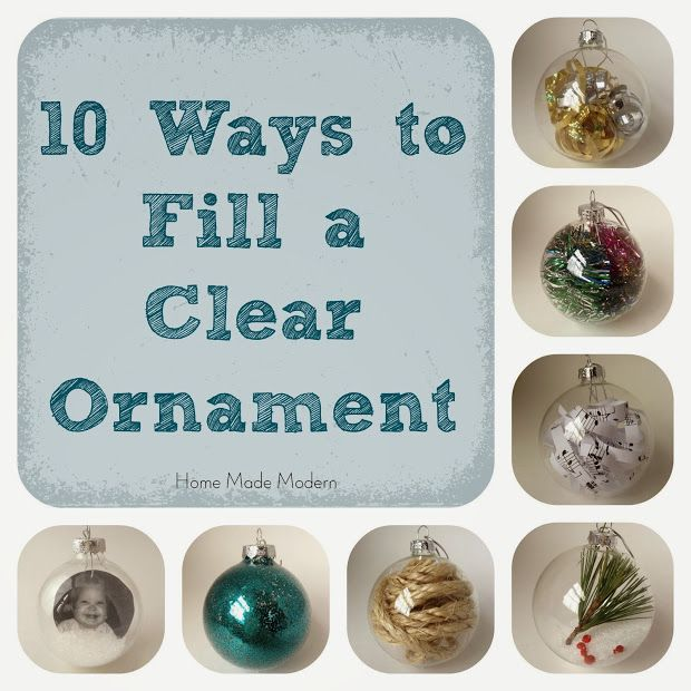 Home Made Modern: How to Make Personalized Christmas Ornaments