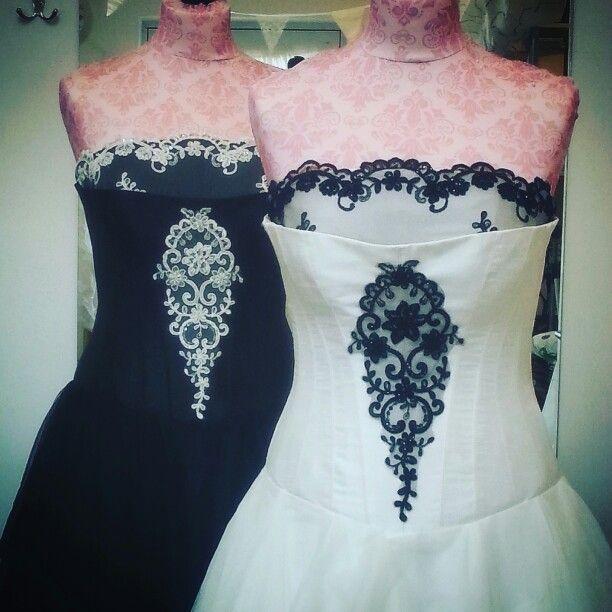 Beatrix & Alexia wedding dresses by Rachel Lamb Design. #bespoke #bridalgown #madetomeasure #weddingdress #blackweddingdress