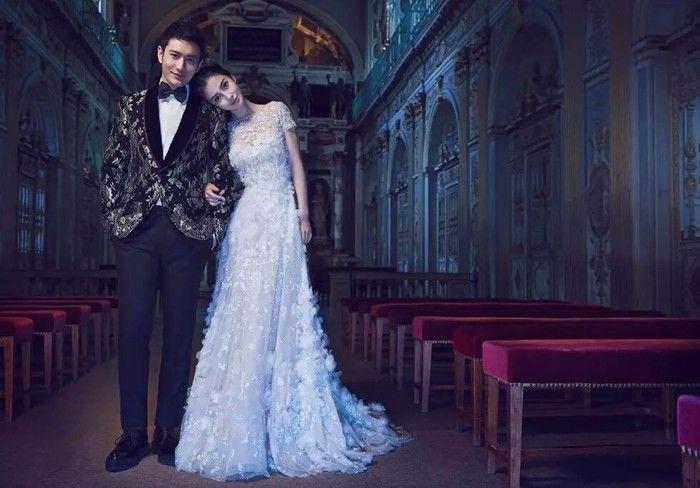 Angelababy和黄晓明婚纱照