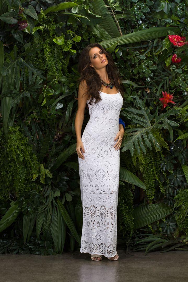 Silvana Malhas - Coleção Verão - Vestido longo alça