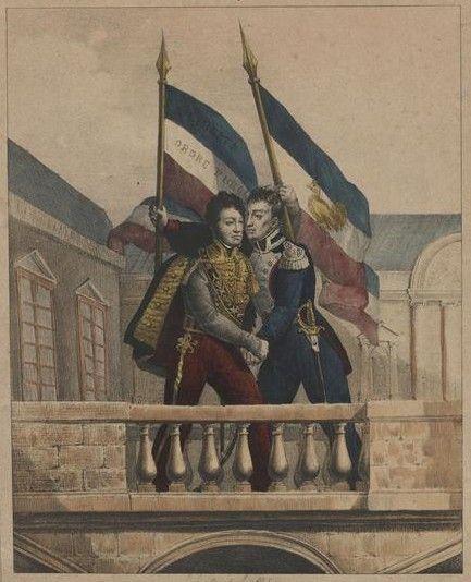 La Fayette et Louis-Philippe - 31 juillet 1830 - Trois Glorieuses — Wikipédia