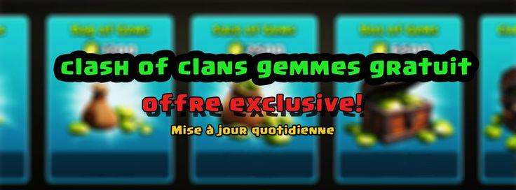 astuce clash of clans gemmes illimite gratuit