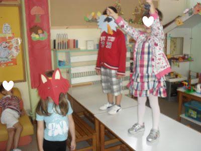...Το Νηπιαγωγείο μ' αρέσει πιο πολύ.: Η αλεπού και τα σταφύλια - Δραματοποίηση, μαθηματικά και πατρόν για το σταφύλι