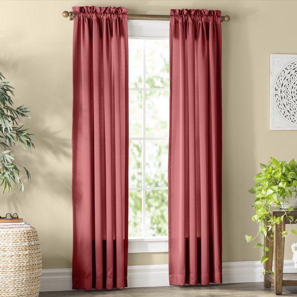 Basics Solid Room Darkening Rod Pocket Single Curtain Panel