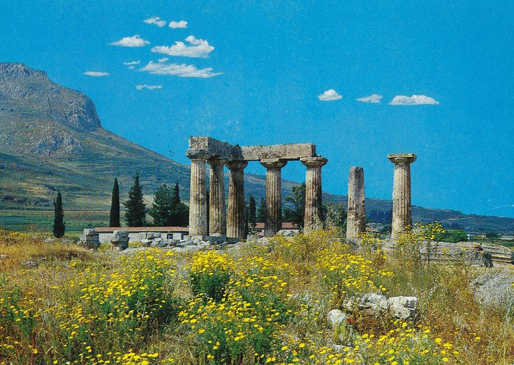 The Temple of Apollo, Corinth, Greece