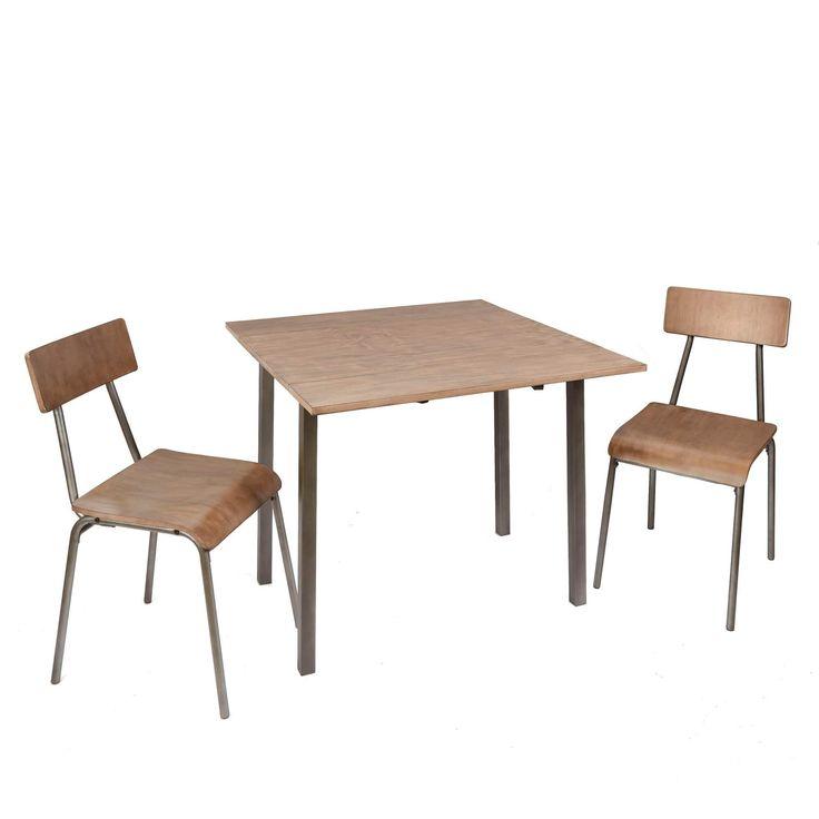 Owen 3-Piece Industrial Dining Set