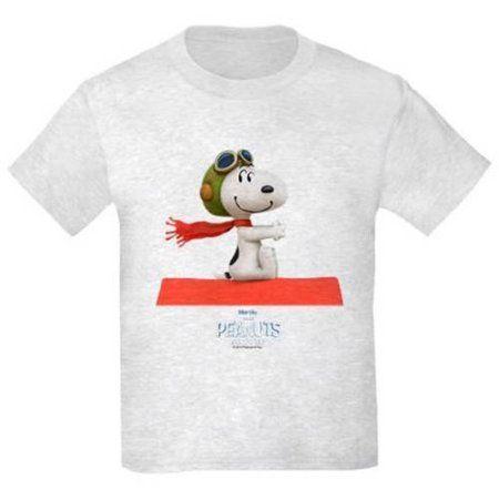 CafePress Flying Ace - The Peanuts Movie Kids' Light T-Shirt, Gray