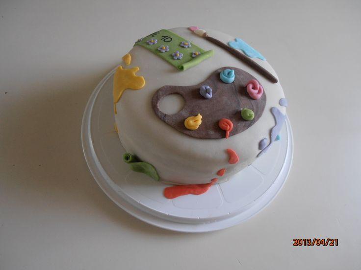 festő torta