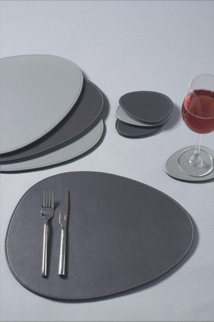 Next Set Of 4 Reversible Pebble Placemats And Coasters Grey Decoracao Couro Invencoes Legais Dicas Domesticas