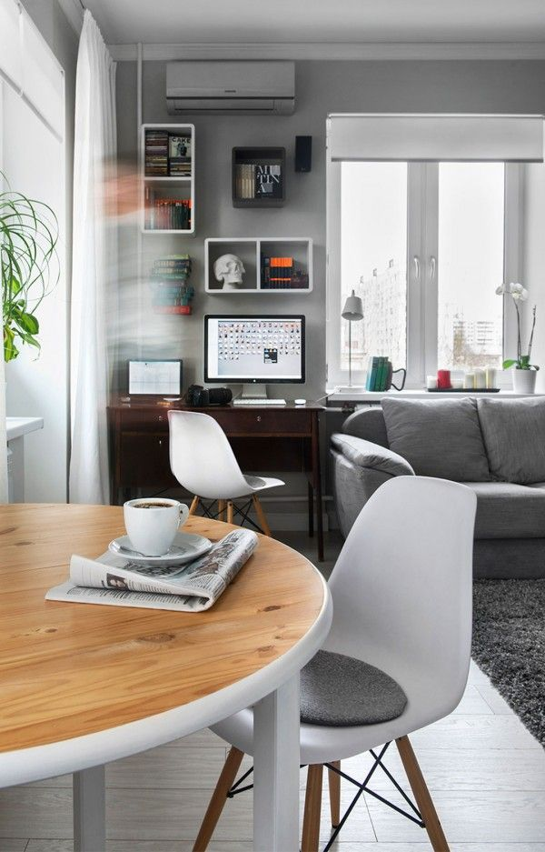 Small Apartment Design in Moscow Defined by the Mix of Modern