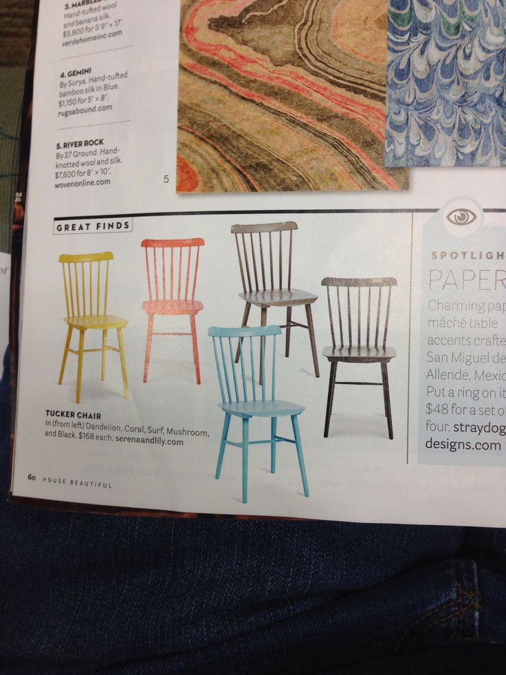 Colorful painted chairs