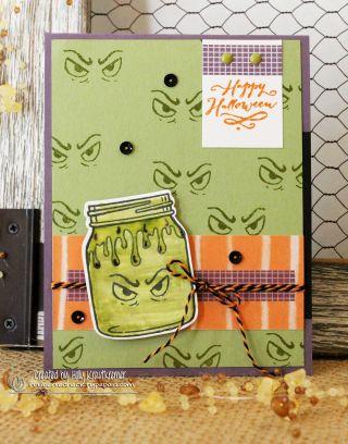 Holly Krautkremer, Stampin' Up! Jar of Haunts stamp set, Everyday Jars framelits, Stamp Review Crew