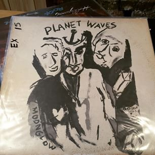 """""""Planet Waves MoonGlow Cast-Iron songs & Torch Ballads"""" - Bob Dyland with The Band (Asulum Records) 1974"""