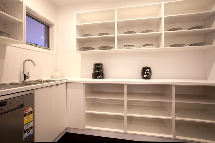 A butler's pantry with a kitchen sink and dishwasher will create the ultimate luxurious kitchen!