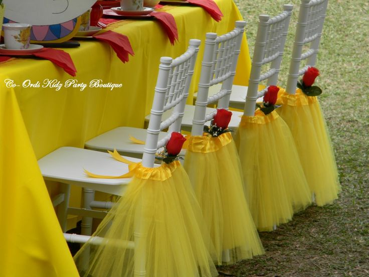 Princess Belle - Beauty and the Beast Little Ladies High Tea Party by Co-Ords Kidz Party Boutique