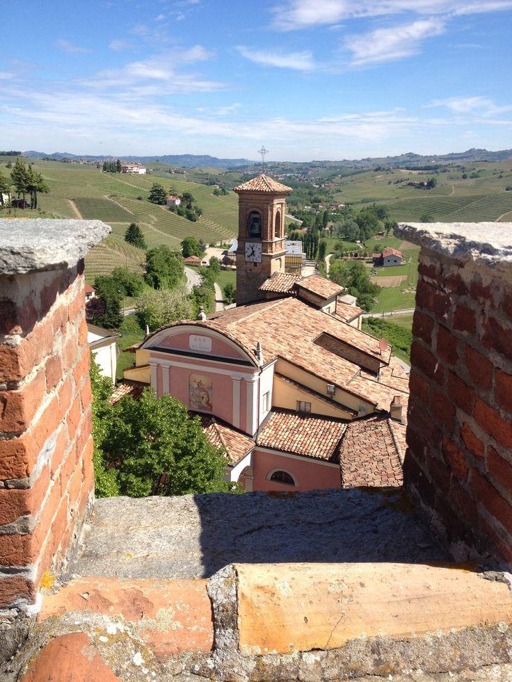 view from Castello di Barolo, museo del vino #Barolo #Piemonte #Italia #Italy #terredivino #vino #wine #winelovers