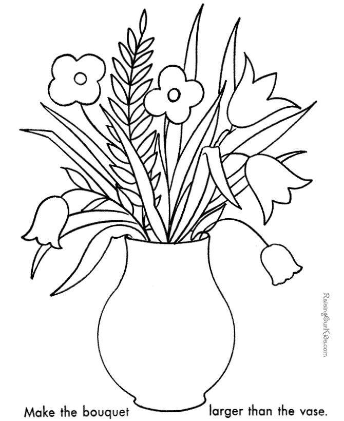 Flowers Coloring Page For Kids 026