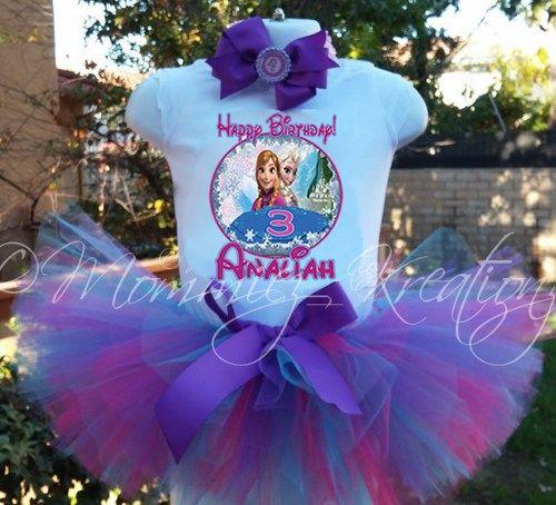 Frozen tutu set, Frozen birthday shirt, elsa and anna tutu, Frozen