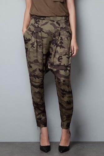 Zara Camouflage Harem Pants