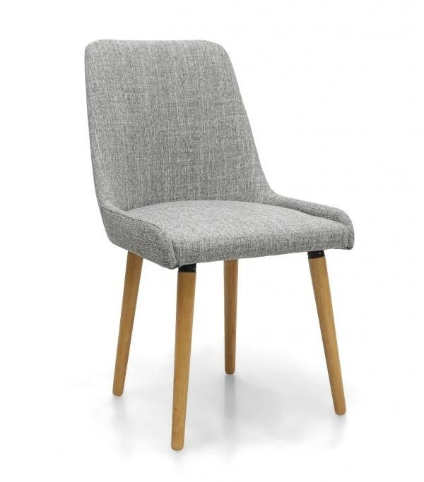 Capri Grey Weave Dining Chair  The Capri dining chair has minimal styling that emphasis contemporary living. These luxurious chairs will be at home in a well appointed kitchen, loft style living and traditional dining rooms. They will blend with both casual and formal dining solutions. Available in fashionable Grey Weave or Natural linen style,   Color:Grey Weave Item Size:H 850 W 500 D 585