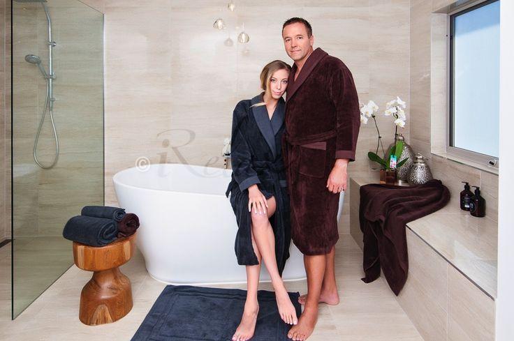 Charcoal & Chocolate Bespoke Bath Set #iRelaxAU #BespokeBathSet #VelourBathrobe #UltraFineCotton #LuxuriousTowels #AweSplendid #PerfectGiftForAnyOccasion #ForHer #ForHim
