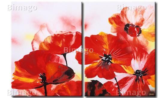 Fleurs dans la peinture - Tableau coquelicots http://www.bimago.fr/tableaux/fleurs/coquelicots-7.html